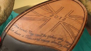 Sole of Gary Barlow&#039;s shoe