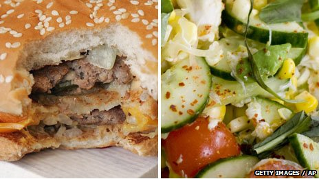 A Big Mac and salad