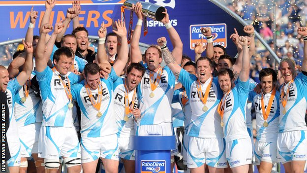 Ospreys celebrate their title win