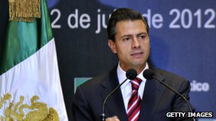 Enrique Pena Nieto on 2 July 2012