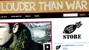Louder Than War blog (screen grab)