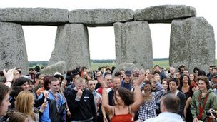 Pagans celebrate Litha at Stonehenge