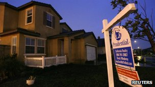 A house for sale is pictured in San Bernardino, California, in February 2009
