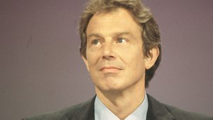 Prime Minister Tony Blair in 1998