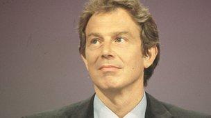 Prime Minister Tony Blair in 1998