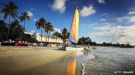 Antigua beach scene
