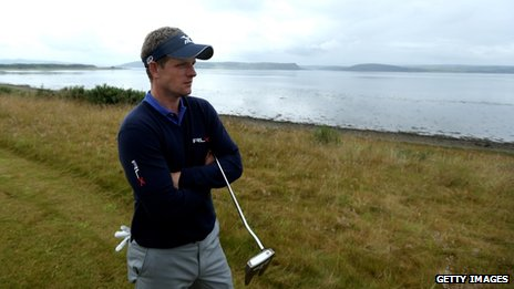 Luke Donald at Castle Stuart