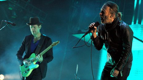 Ed O&#039;Brien and Thom Yorke from Radiohead