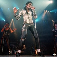 Michael Jackson during his 1988 Bad tour