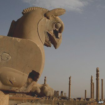 The ruins of the ancient imperial city of Persepolis