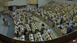 Russian parliament chamber