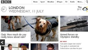 BBC homepage