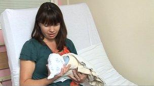 Karen Mercer and baby Heath