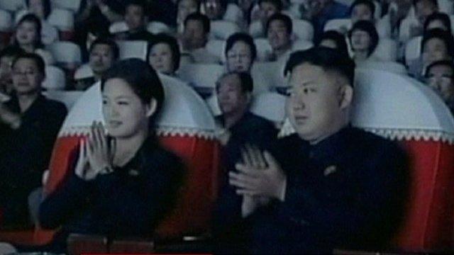 Kim Jong-un with his partner
