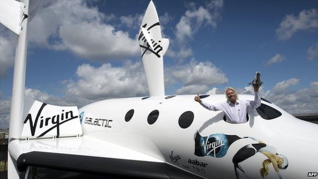 Richard Branson with Virgin Galactic