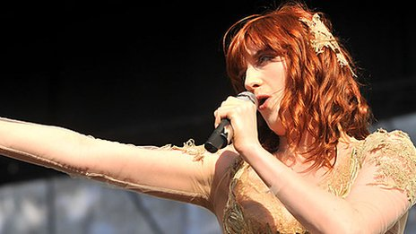 Florence Welch from Florence & The Machine