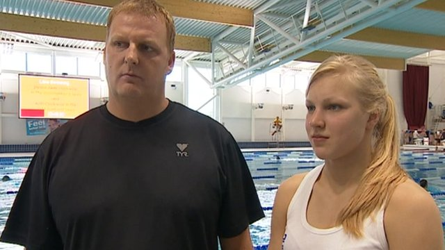 John Rudd (left) with Ruta Meilutyte