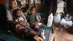 Fatuma Sankos and her children in Dadaab, Kenya