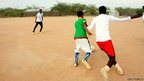 A football team in the Ifo section of Dadaab camp