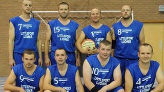 Lithuanians in basketball team