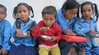 Pupils in west Nepal have lunch
