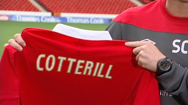 Shirt with Steve Cotterill's name on the back