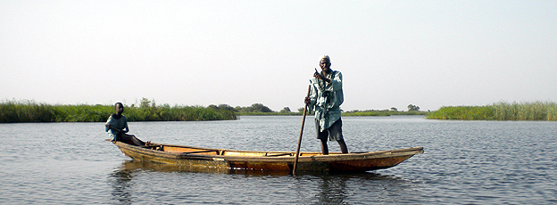 Boatman on Lake Chad