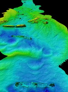 Rotherfield wreck in Burra Sound, at Scapa Flow