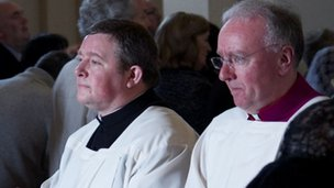 Philip Egan (right), the new Bishop of Portsmouth