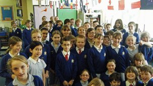 Pupils from St Patrick's in Corsham, UK, took part in the 'excellence' debate!