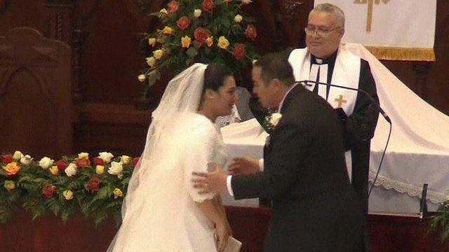 Crown Prince of Tonga and his bride