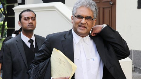 Rama Valayden, defence lawyer for Sandip Moneea