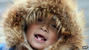 Six-year-old Inupiat boy
