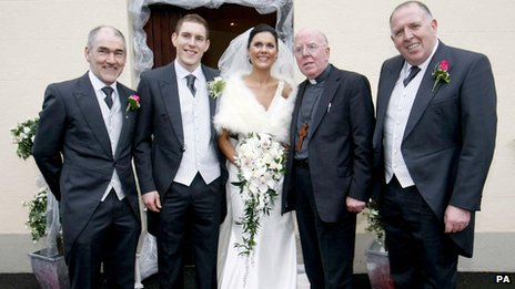 Michaela and John McAreavey's wedding day