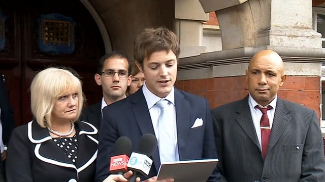 Lawyer James Stevenson reads statement on behalf of Kane Gorny's family