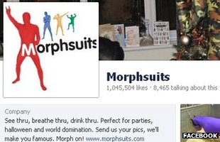 Morphsuits Facebook page screenshot