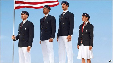 US Olympic uniforms 2012