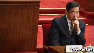 Bo Xilai attends the opening ceremony of the National People's Congress (NPC) at the Great Hall of the People on March 5, 2012 in Beijing, China