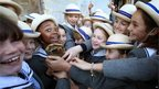 School children from Leadenhall School in Salisbury, 12 July 2012