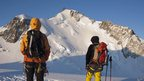 Climbers look at Mont Maudit mountain in French Alps in this May 2009 file picture