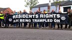 Residents protest
