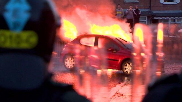 Riot in Ardoyne area of Belfast