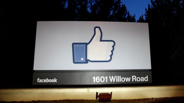 Facebook sign