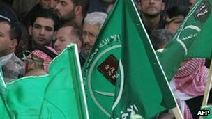 Muslim Brotherhood supporters in Amman. File photo