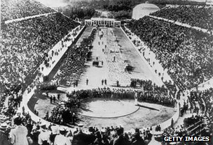 Opening ceremony of the 1896 Olympic Games in Athens
