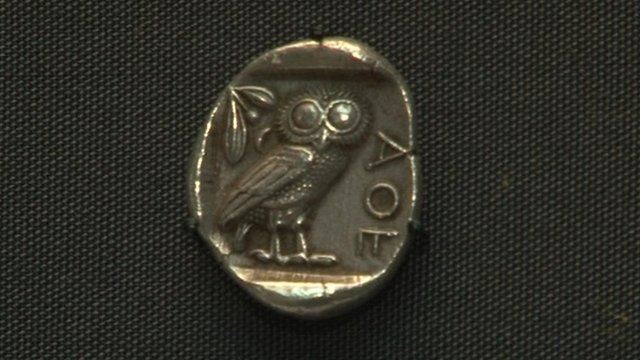 Original Athenian tetradrachm coin