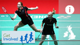 Badminton graphic