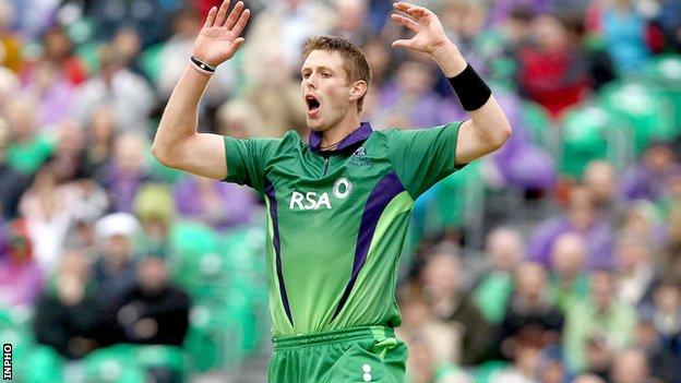 Ireland bowler Boyd Rankin