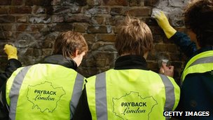 Youths on a community payback scheme