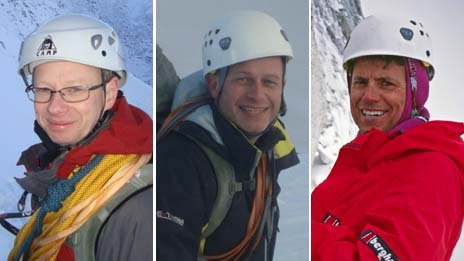 John Taylor (l), Steve Barber (c) (pictures from the family) and Roger Payne (r)